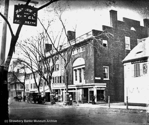 Franklin Hotel in Portsmouth, NH 1873 (c) Strawbery Banke Museum