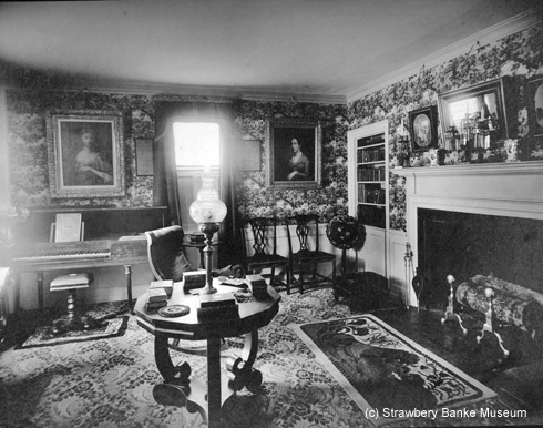 Parlor of Thams Bailey Aldrich House Memorial in Portsmouth, NH (c) Strawbery Banke Museum