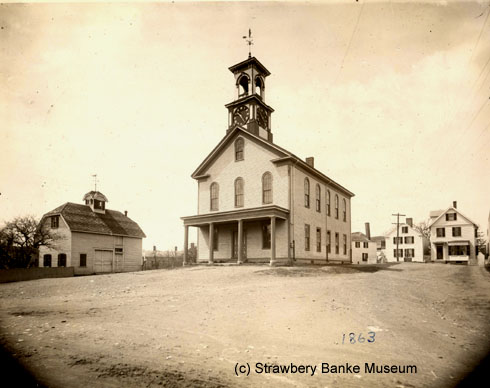 South Ward Meetinghouse, Portsmouth, NH (c) Strawbery Banke Museum archives