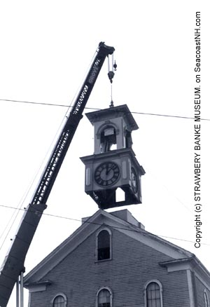 Former Portsmouth Children's Museum steeple repair in 1960s (c) Strawbery Banke Museum Archive on SeacoastNH.com
