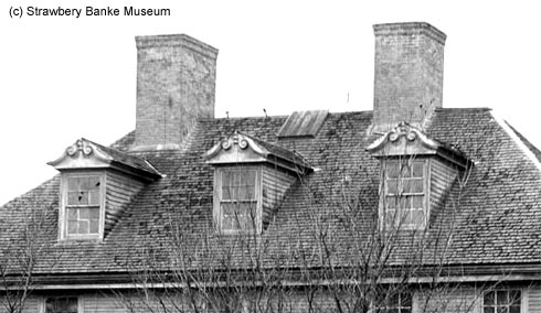 Roof and FOurth floor attic of Joseph Brewster Jr. House in Portsmouth, NH (c) Strawbery Banke Archive