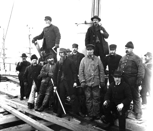 Workers at the Navy Yard