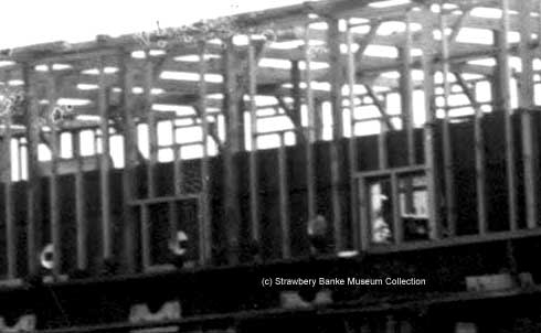 Detail of USS Constitution being housed over in 1880s (c) STrawbery Banke Archive on SeacoastNH.com