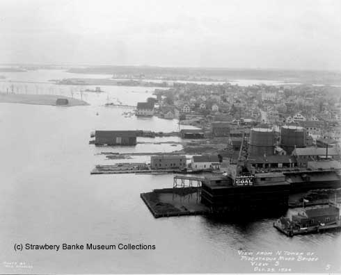 View of Portsmouth, NH South End Waterfront in 1924 / Strawbery Banke Museum
