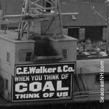 C E Walker & Co Coal Wharf in Portsmouth, NH / Strawbery Banke Museum