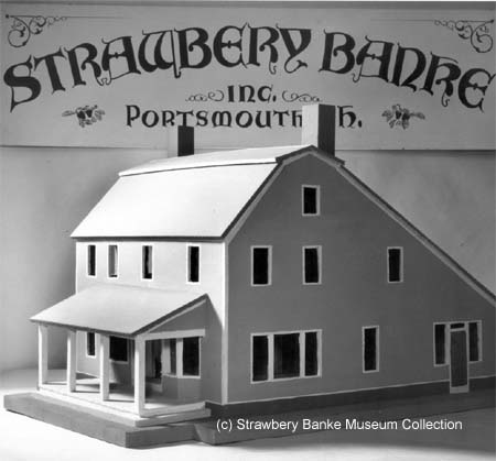 Model of the Dunaway General Store prior to its construction at Strawbery Banke in 1957 (c) Strawbery Banke Archives