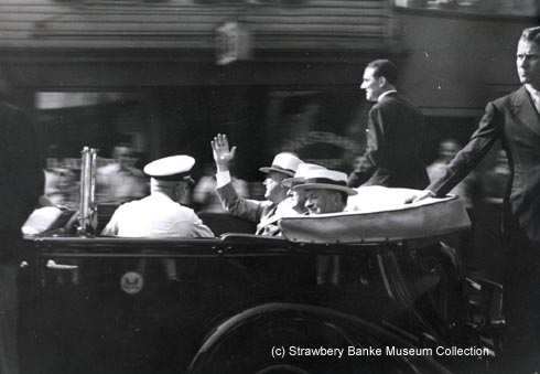 Franklin Delano Roosevelt in NH and Maine 1940 (c) Copyright Strawbery Banke Museum . Photo by Doug Armsden on SeacoastNH.com