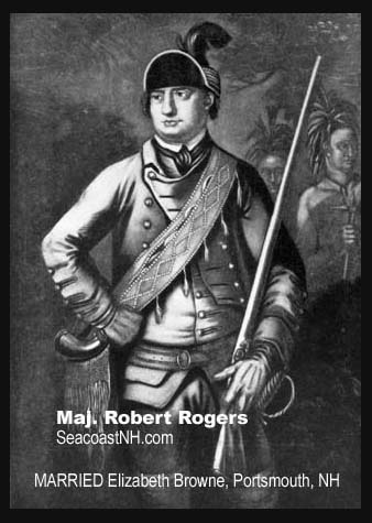 Painting of Major Robert Rogers on SeacoastNH.com