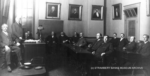 1921 Portsmouth NH City Council (c) Strawbery Banke Museum