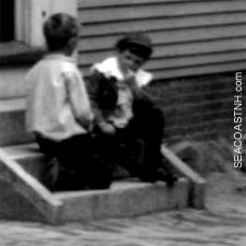 Boys outside orphanage, POrtsmouth, NH / SeacoastNH.com