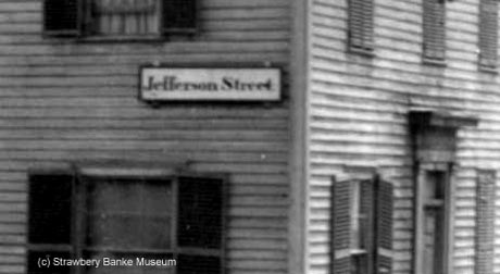 Jefferson Ave Sign in Portsmouth, NH / Strawbery Banke Museum