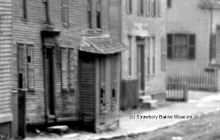 19th century view of Washington Street, Portsmouth, NH ? Strawbery Banke Archive