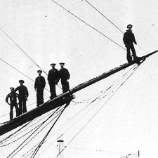 Men on Bowsprit / SeacoastNH.com