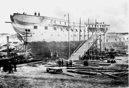 Ironsides at Portsmouth Shipyard / Strawbery Banke Museum