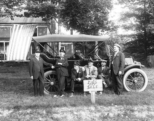 Motorists in NH 1914 / Strawbery Banke Archive