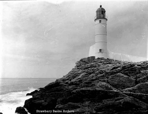 White Island Lighthouse, Isles of Shoals . Strawbery Banke Museum Archives