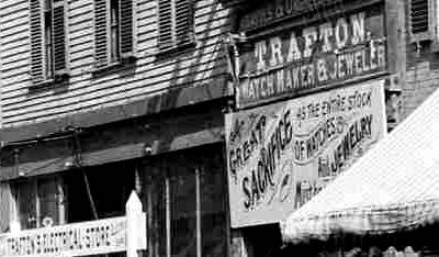 Signs on Congress Street 1896 / Strawbery Banke Archive