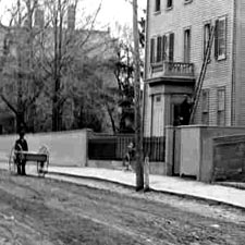 Pleasant Street in 1899 (c) Strawbery Banke Museum
