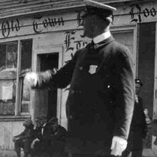 Traffic cop on Congress Street/ Strawbery Banke Archive