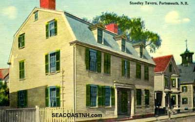 Stoodley's Tavern on Daniel Stt before it was moved in 1964 / SEACOASTNH.com