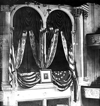 Early photo of Assassination site/ Library of Congress