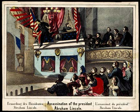 Lincoln Assassination illustration / Library of Congress