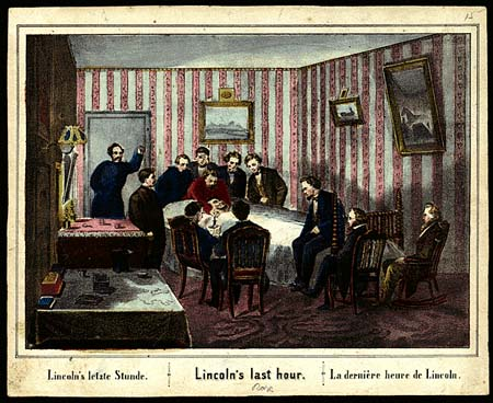 Currier * Ives version of Lincoln's deathbed/ SeacoastNH.com