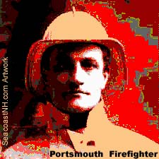 Early Portsmouth Firefighter from Strawbery Banke Collection / SeacoastNH.com Art