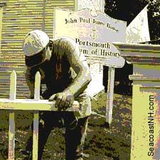 Restoring Paul Jones fence/ SeacoastNH.com
