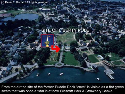 Prescott Park and Liberty Pole (c) Peter E. Randa;; on SeacoastNH.com