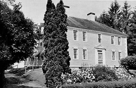 Moulton House in mid-20th century tourism brochure / SeacoastNH.com