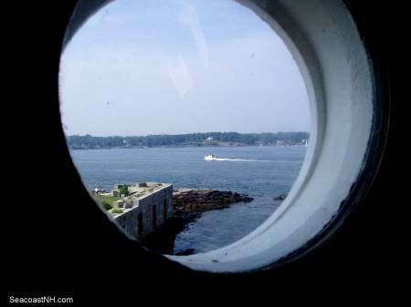 Tip of Fort Constitution and the Piscataqua River from inside the lighthosue / SeacoastNH.com