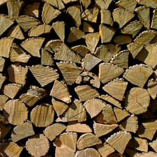 Wood stacked for winter at Shaker Village / SeacoastNH