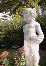 Hamilton House garden in Fall