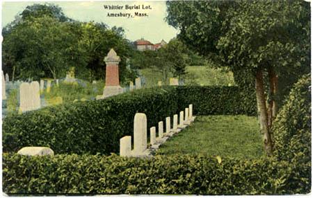 Century-old postcard of Whittier grave site / SeacoastNH.com
