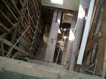 new stairway shaft