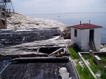 Damaged Generator Room at White Island 2004