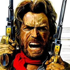 Clint Eastwood as Josey Wales in 1976 on the Dingus Project