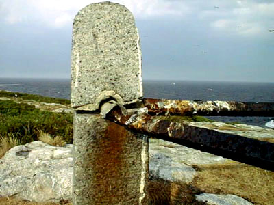 Detail of deterioirating monument on Star Islamd, Isles of Shoals / SeacoastNH.com