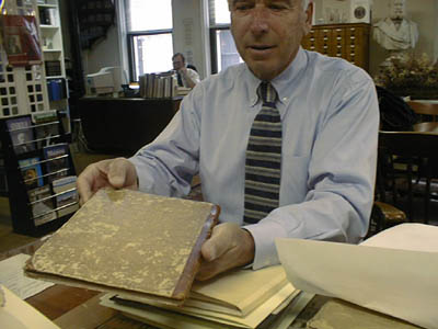 Bob Hassold of Portsmouth reviews JPJ's letter book