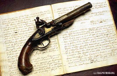 John Paul Jones pistol and letterbook (c) Ralph Morang III /SeacoastNH.com