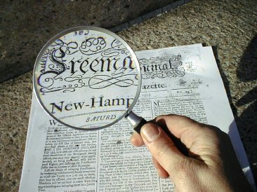Examing the Freeman's Journal aka NH Gazette from 1777 / SeacoastNH.com photo