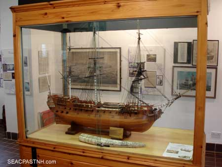 Ship display at Arbingland Scotland / John Lusher at SeacoastNH.com