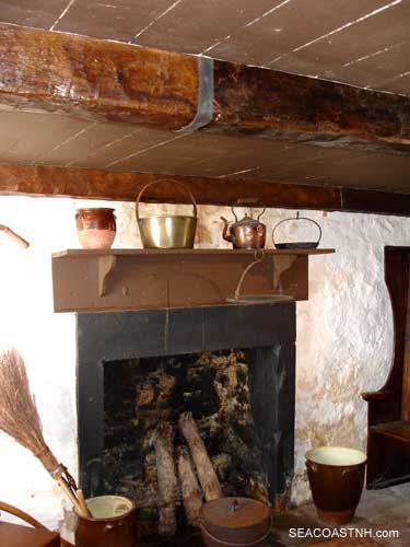 Fireplace and restored ceiling beam of Paul Jones birthplace/ SeacoastNh.com John Lusher photo