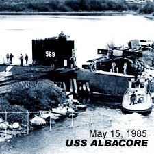 USS Albacore Haul-out/ May 15, 1985 / SeacoastNH.com
