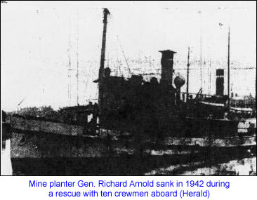 Mine Planter Ge, Richard Arnold Sinks 1942