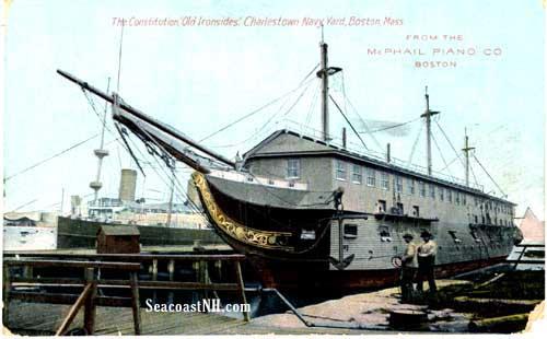 USS Constitution in Charleston Harbor