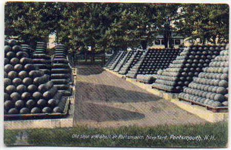 Old shot and shell about 1908 at navy yard