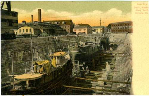 Attractive hand tinted image of the new drydock