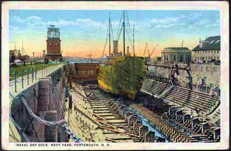 Another colorful image of the navy yard drydock